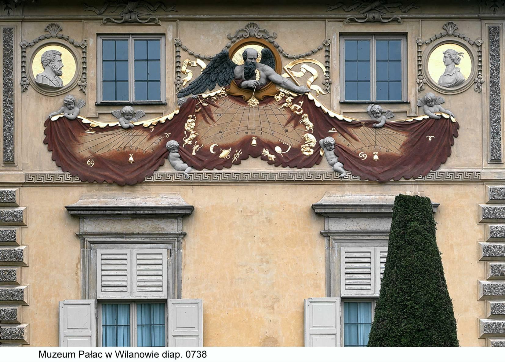 44_zegar z fasady ogrodowej pałacu wilanowskiego.jpg