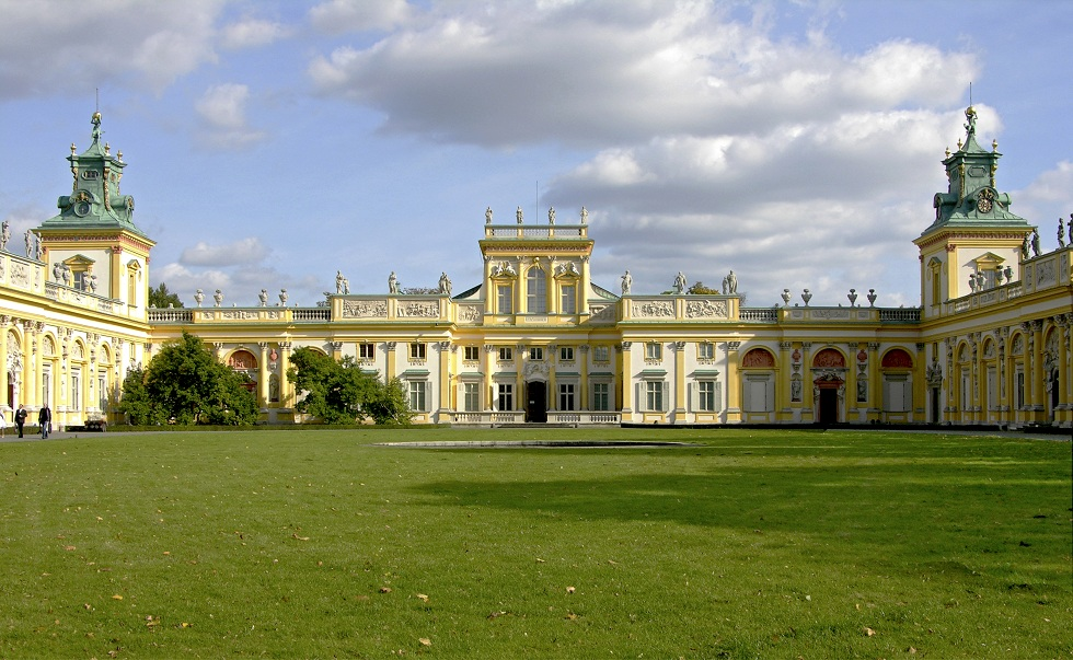 Pałac w Wilanowie od dziedzińca, fot. W. Holnicki
