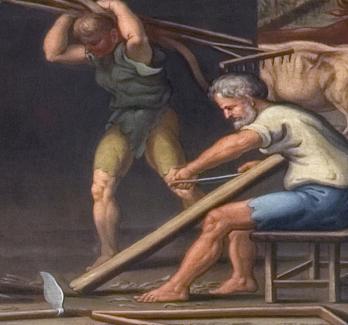 Przygotowanie narzędzi rolniczych – fragment fryzu w Antykamerze Króla.jpg