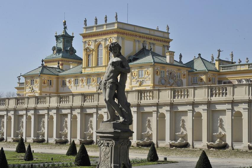 > Statue des jardins deWilanów à Varsovie.