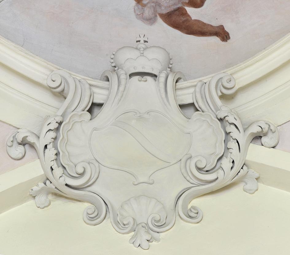 Herb Lubomirskich  w pałacu w Wilanowie.jpg