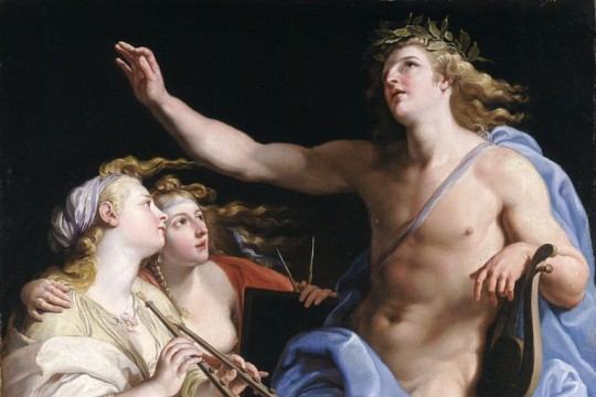 Apollo and two Muses