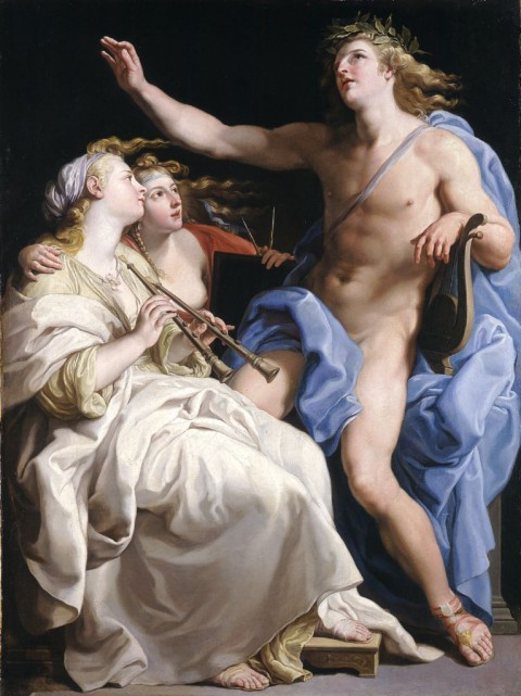 Apollo i dwie muzy_ Pompeo Girolamo Batoni