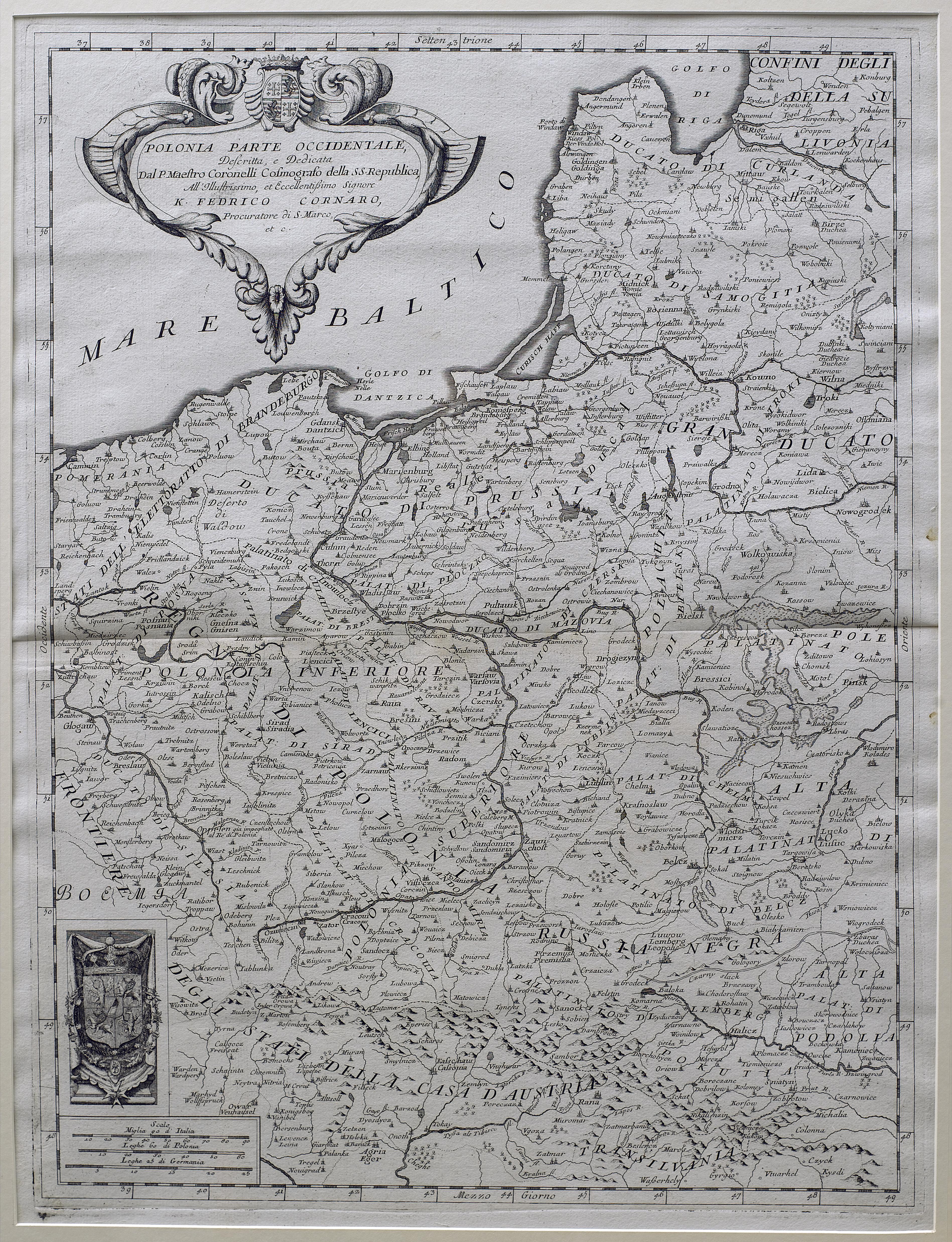 Mapa Rzeczypospolitej, część zachodnia, XVII wiek.jpg