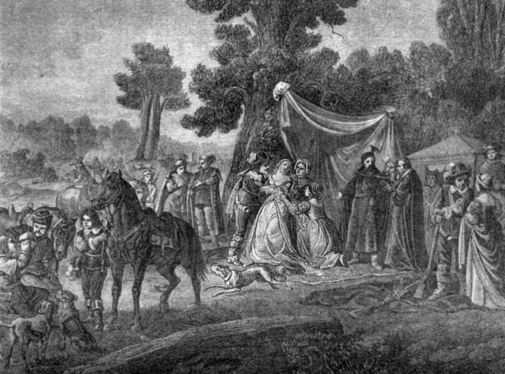 Władysław IV na polowaniu, litograficzna kopia obrazu F. Sypniewskiego, fot. z kolekcji autora..JPG