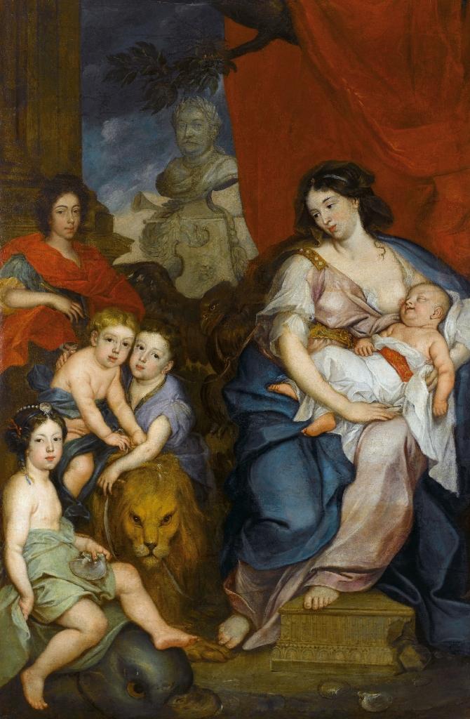 Maria Kazimiera z dziećmi