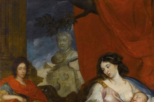 Portrait of Queen Maria Kazimiera with Children