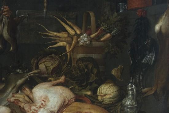 Jakob Matham, wnętrze kuchni, 1625, fragment.JPG