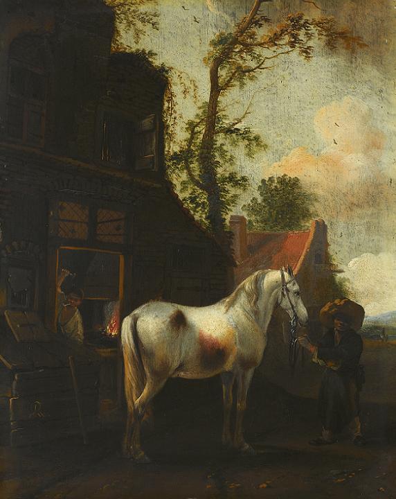 Przed kuźnią, Philippe Wouvermann, XVII w.jpg