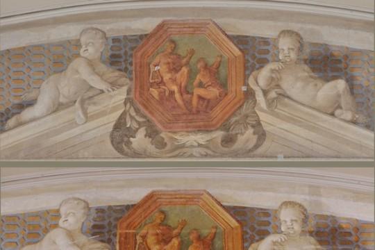 konserwacja_gabinet_al_fresco_palloni_fresk_Sciana południowa (góra)fot_M_Baran_J_Andrzejewski.jpg