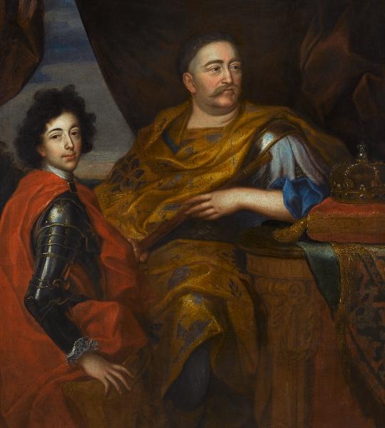 Jan III Sobieski z synem Jakubem, mal. JerzyEleuterSzymonowicz-Siemiginowski