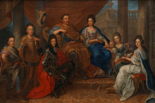 Jan III w otoczeniu rodziny