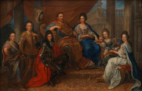 Jan III Sobieski z rodziną, malarz dworski, po 1693; Muzeum Pałacu Króla Jana III w Wilanowie, fot. Z. Reszka