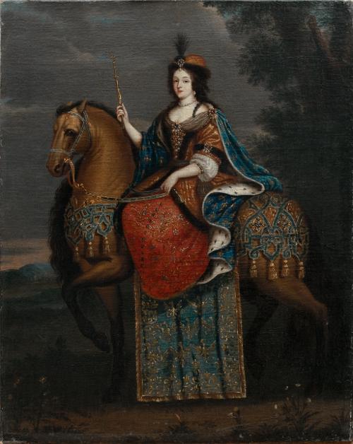 Maria Kazimiera Sobieska na koniu, malarz dworski z kręgu Jana III.jpg
