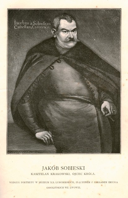 Jakub Sobieski, rycina Juliana Schübelera, 1883; Biblioteka Narodowa