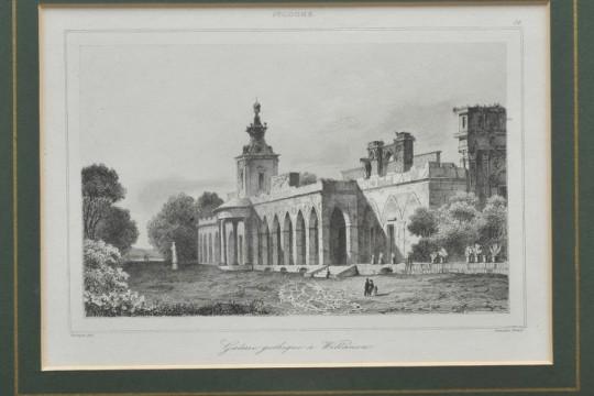 Widok Galerii Gotyckiej przy północnym skrzydle pałacu