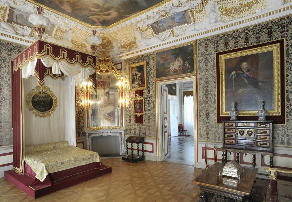 Sypialnia Królowej w pałacu w Wilanowie