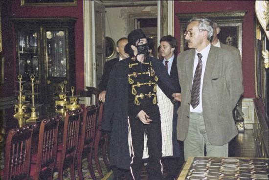 Wizyta Michaela Jacksona w Wilanowie, fot. A. Indyk