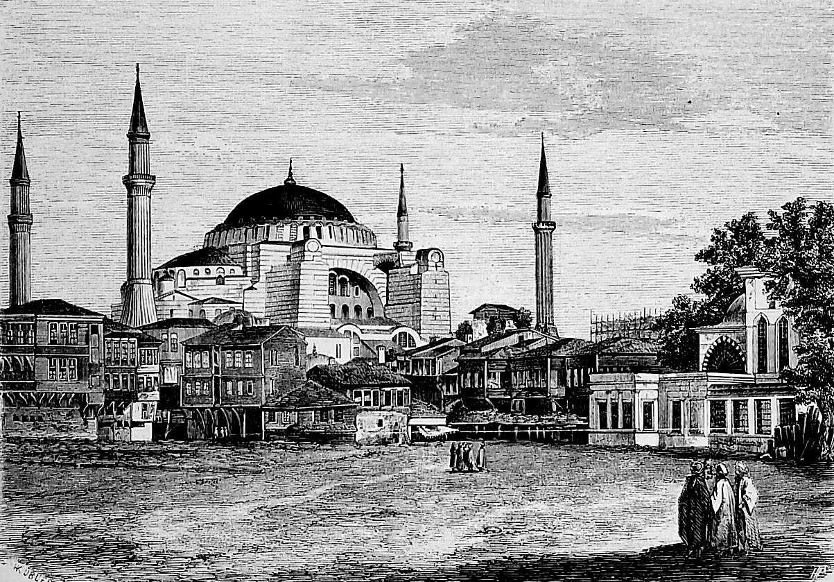 Hagia Sophia przebudowana na meczet za Mehmeda II Zdobywcy Tygodnik Ilustrowany 1864.jpg