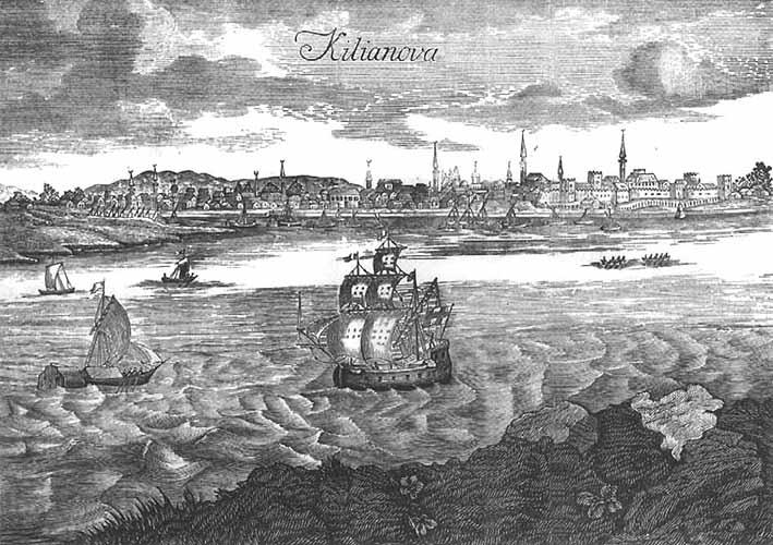 Port w Kilii; miedzioryt z XVII w..jpg