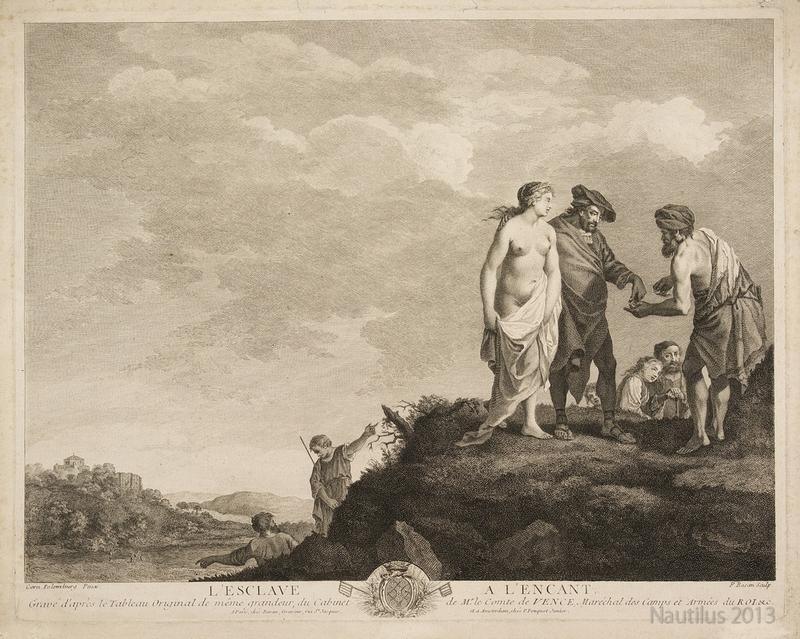 Sprzedaż niewolnicy; XVIII-wieczny miedzioryt P. Basana.jpg