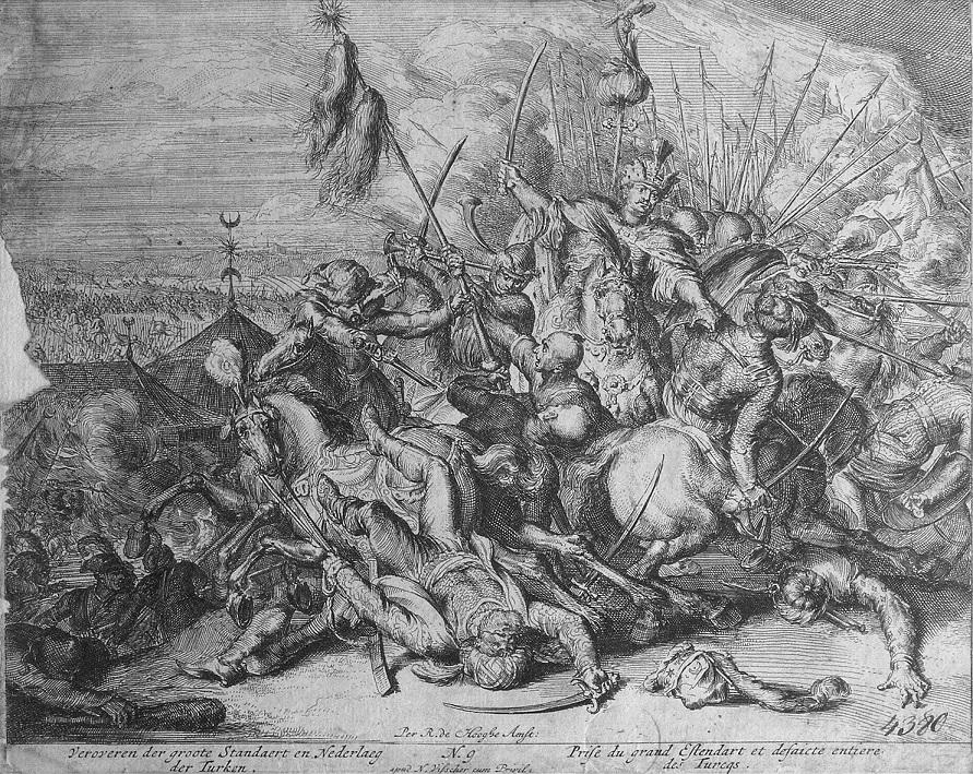 Żołnierze tureccy w starciu z Polakami pod Wiedniem; akwaforta Romeyna de Hooghe.jpg