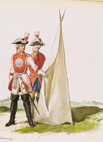 Żołnierze Gwardii Saskiej w mundurach z czasów Augusta II