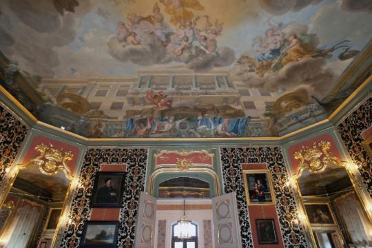 Plafon w Gabinecie Holenderskim w pałacu w Wilanowie, fot. W. Holnicki.jpg