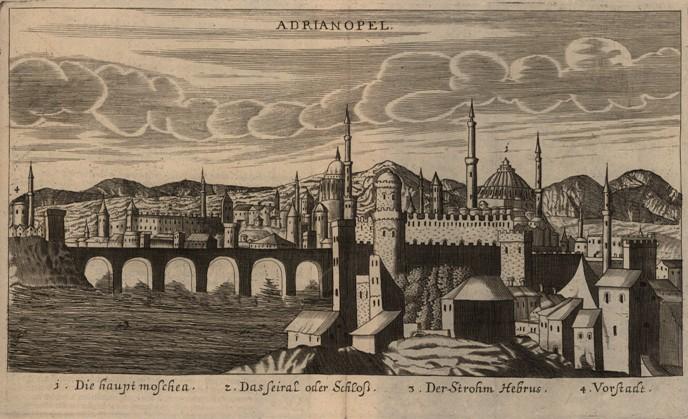 Adrianopol ryt J Koppmayer w J C Wagnera Delineatio Provinciarum Pannoniae Et Imperii Turcici In Oriente 1685 BN.jpg