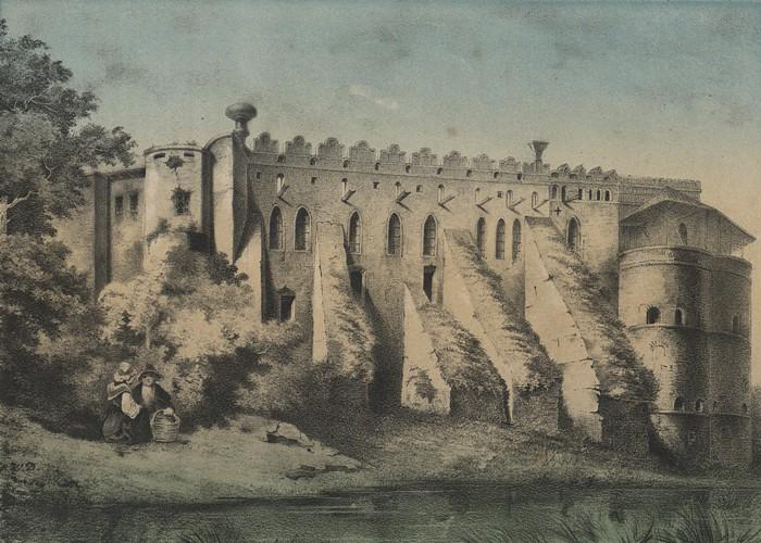 Zamek w Międzybożu na Podolu grafika 1860 BN.jpg