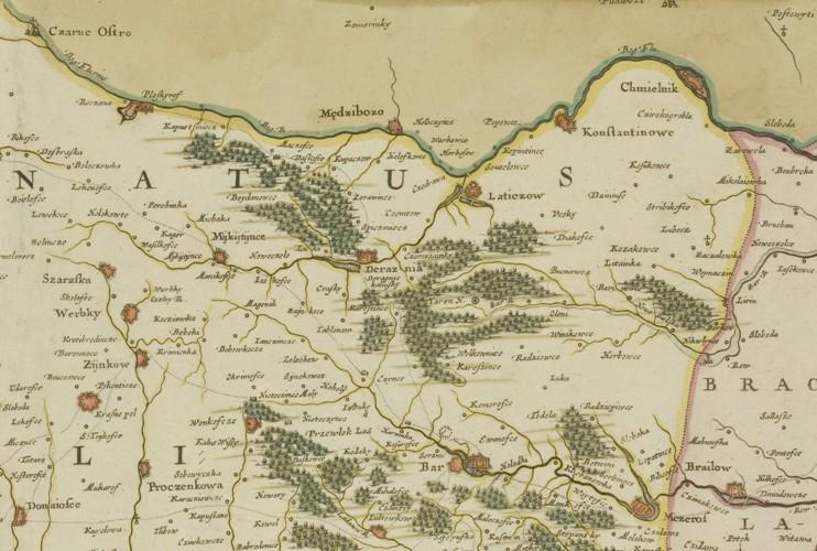 Beauplan mapa Ukrainae Podolia fragm Miedzyboz.jpg