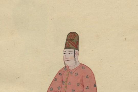 Uczta na dworze sułtana Mehmeda IV – w kaftanie, na chińskiej porcelanie