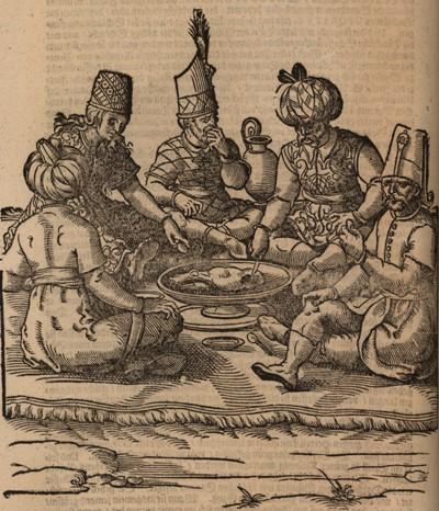 Turcy jedzący ryt J Koppmayer w J C Wagnera Delineatio Provinciarum Pannoniae Et Imperii Turcici In Oriente 1685 BN.jpg
