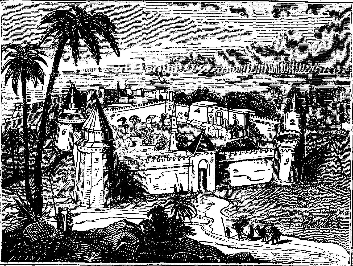 Jedykuła Yedikule rycina z The Mirror of Literature, Amusement, and Instruction. Vol. 10. No. 285. December 1, 1827.JPG
