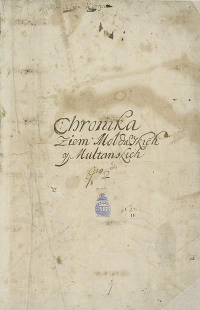 Miron Kostyn Chronika... ante 1691 BN strona tytułowa.jpg
