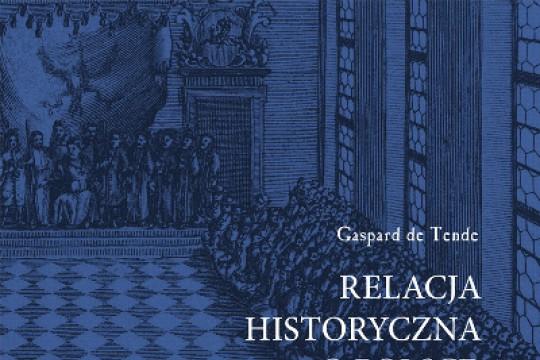 okladka Gaspard de Tende Relacja historyczna o Polsce.jpg