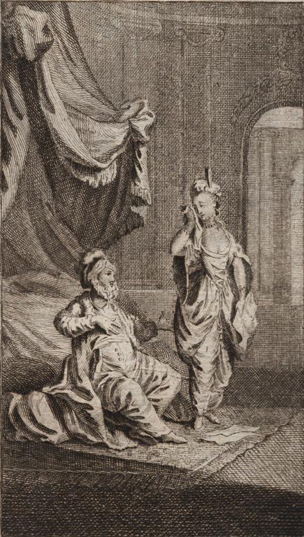 Kobieta i mężczyzna w strojach orientalnych, J. Nussbiegel, 1770-1833, BN