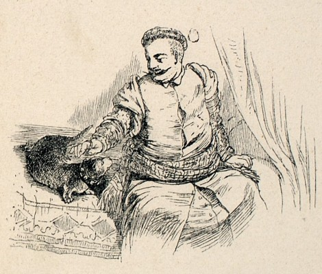 Jan III i wydra Robak rys. Antoni Zaleski.jpg