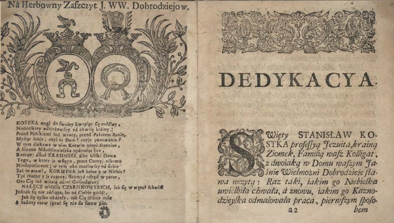 Gosc domowy sw. Stanislaw Kostka 1744 dedykacja BN.jpg