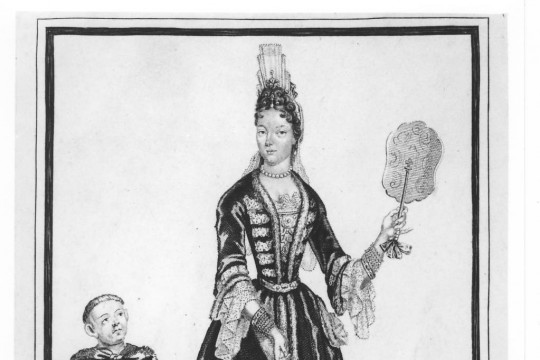 Ladies' court fashion in the times of queen Marie Casimire