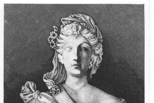 Sculpted portrait of queen Marie Casimire