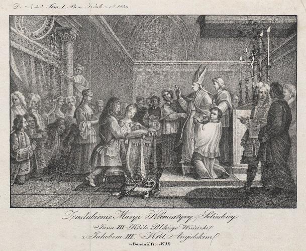 Zaślubienie Marii Klementyny Sobieskiej z Jakubem III, królem angielskim