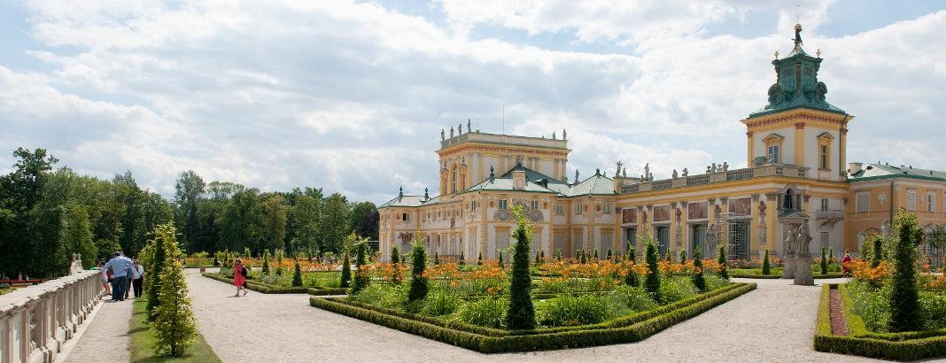 Pałac w Wilanowie od ogrodu - fot. W. Holnicki
