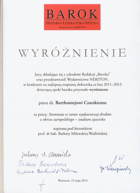 Dyplom_Czarski_Stemmaty_najlepsza_praca_doktorska.jpg