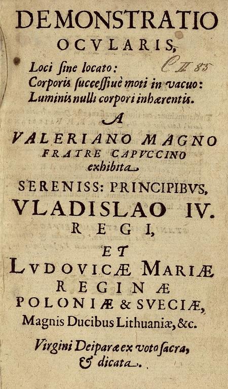 Walerian Magni Demonstratio ocularis loci sine locato