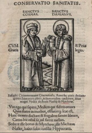 Maciej Miechowita, Conservatio sanitatis, 1522, Biblioteka Narodowa