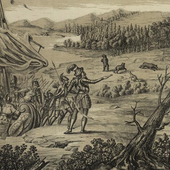 Teofil Żychowicz, Przybycie Palemona do Litwy r. 57., Lwów 1852; zbiory Biblioteki Narodowej