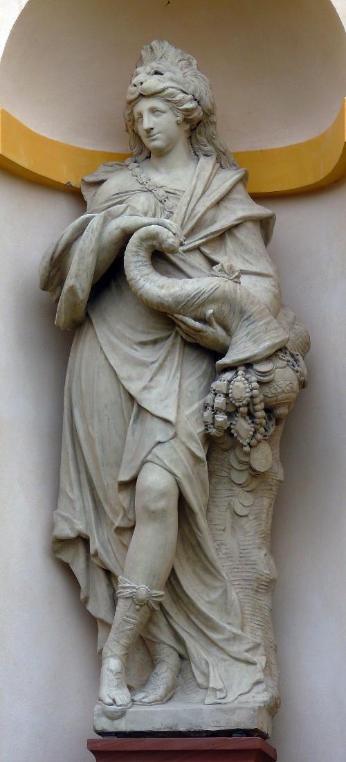 Fortitudo - personifikacje czterech pojęć Honos, Magnanimitas, Splendor nominis i ValorFortitudo.JPG