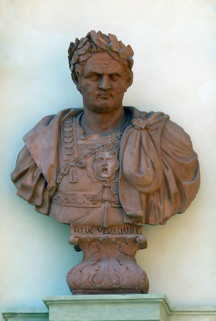 Wespazjan - z których do dzisiaj przetrwały zaledwie trzy Tyberiusza, Wespazjana i Tytusa.JPG