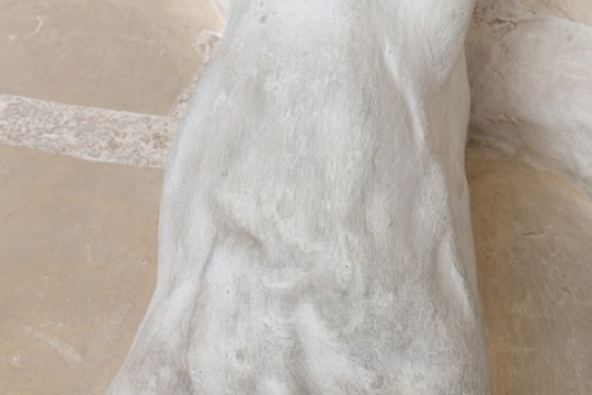 Detal figury Herkulesa, autor nieznany, 1732 r., fot. A. Indyk.jpg